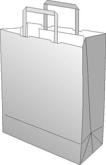 nosilna vrečka - skica - papirol